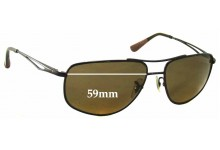 Sunglass Fix Sunglass Replacement Lenses for Ray Ban RB3490 - 59mm Wide