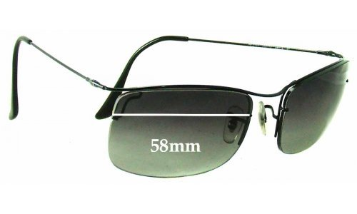 Sunglass Fix Sunglass Replacement Lenses for Ray Ban RB3499 - 58mm Wide