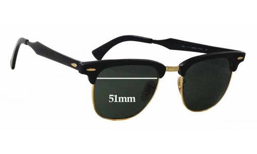 Sunglass Fix Sunglass Replacement Lenses for Ray Ban Clubmaster RB3507 - 51mm wide