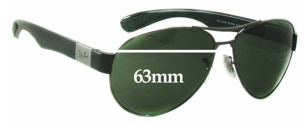 a7db31d5885 Ray Ban RB3509 Sunglass Replacement Lenses - 63mm wide
