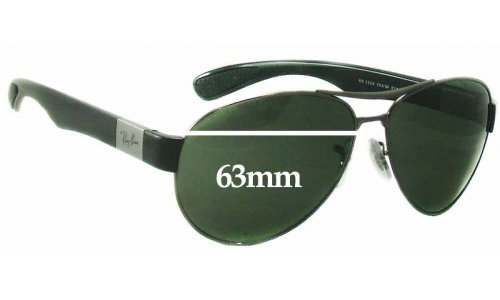 Sunglass Fix Sunglass Replacement Lenses for Ray Ban RB3509 - 63mm wide