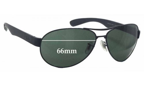 Sunglass Fix Sunglass Replacement Lenses for Ray Ban RB3509 - 66mm wide