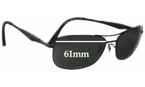 Sunglass Fix Sunglass Replacement Lenses for Ray Ban RB3515 - 61mm Wide
