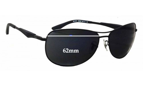 Sunglass Fix Sunglass Replacement Lenses for Ray Ban RB3519 - 62mm wide