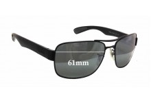 Sunglass Fix Sunglass Replacement Lenses for Ray Ban RB3522 - 61mm Wide x 43mm Tall