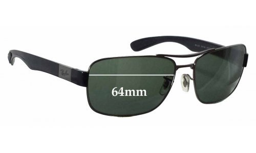 Sunglass Fix Sunglass Replacement Lenses for Ray Ban RB3522 - 64mm wide