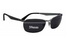 Sunglass Fix Sunglass Replacement Lenses for Ray Ban RB3534 - 59mm Wide