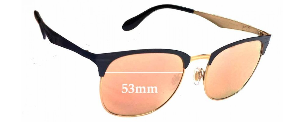 Sunglass Fix Sunglass Replacement Lenses for Ray Ban RB3538 - 53mm Wide