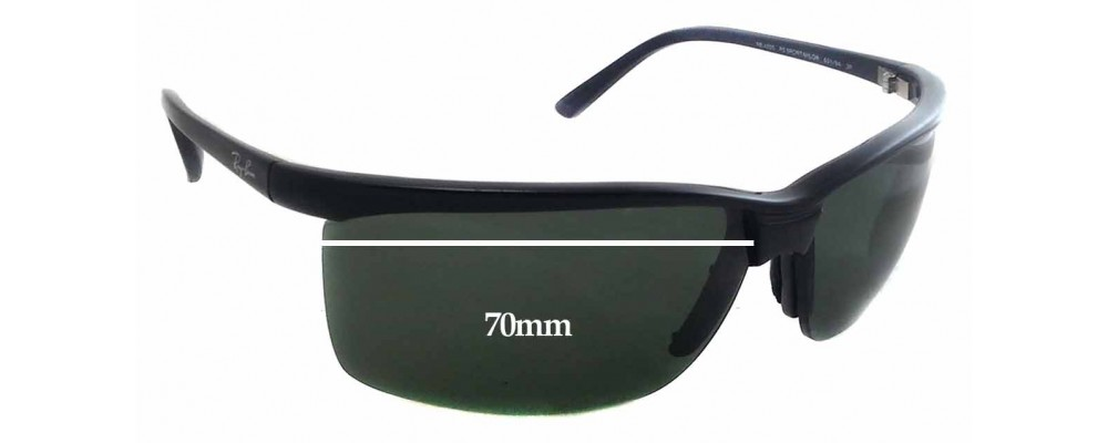 Sunglass Fix Sunglass Replacement Lenses for Ray Ban RB4025 - 70mm Wide x 43mm Tall