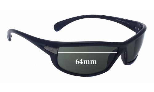 Sunglass Fix Sunglass Replacement Lenses for Ray Ban RB4054 - 64mm Wide