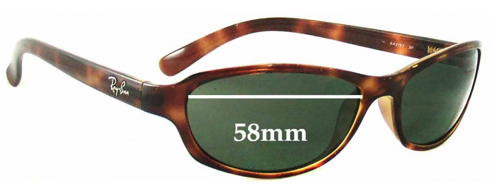 Sunglass Fix Sunglass Replacement Lenses for Ray Ban RB4076 Predator - 58mm Wide