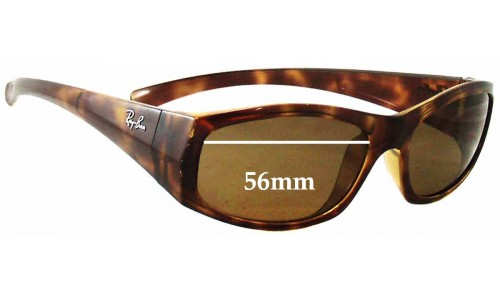 Sunglass Fix Sunglass Replacement Lenses for Ray Ban RB4093 - 56mm Wide