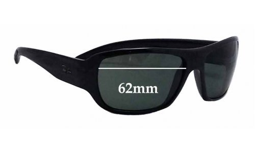 Sunglass Fix Sunglass Replacement Lenses for Ray Ban RB4150 62mm Wide