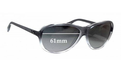 Sunglass Fix Sunglass Replacement Lenses for Ray Ban RB4153 - 61mm Wide