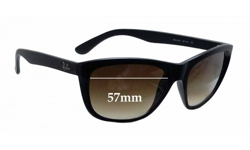 Sunglass Fix Sunglass Replacement Lenses for Ray Ban RB4154 - 57mm wide