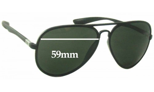 Sunglass Fix Sunglass Replacement Lenses for Ray Ban RB4180 Liteforce - 59mm Wide