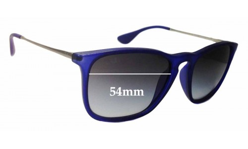 Sunglass Fix Sunglass Replacement Lenses for Ray Ban RB4187 Chris - 54mm Wide