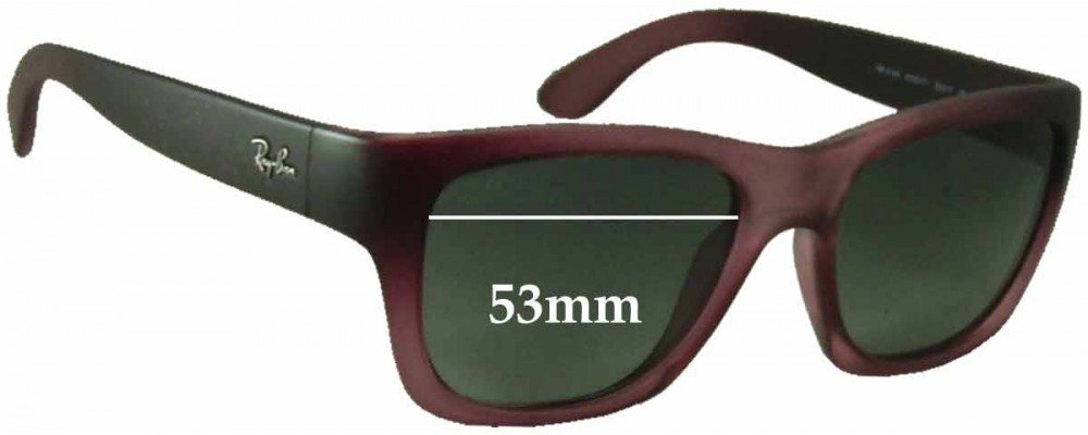 Sunglass Fix Sunglass Replacement Lenses for Ray Ban RB4194 - 53mm Wide