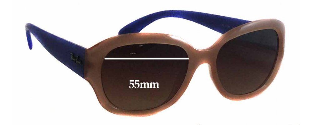 Sunglass Fix Sunglass Replacement Lenses for Ray Ban RB4198 - 55mm Wide