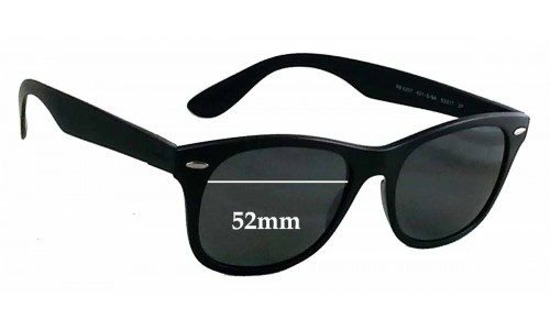 Sunglass Fix Sunglass Replacement Lenses for Ray Ban RB4207 Liteforce - 52mm wide