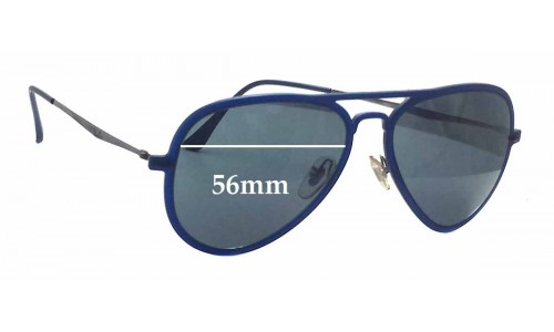 Sunglass Fix Sunglass Replacement Lenses for Ray Ban LightRay RB4211 - 56mm Wide