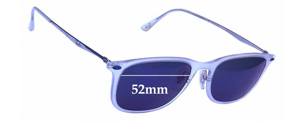 Sunglass Fix Sunglass Replacement Lenses for Ray Ban LightRay RB4225 - 52mm Wide