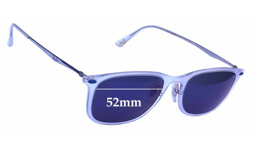Sunglass Fix Sunglass Replacement Lenses for Ray Ban RB4225 LightRay - 52mm wide