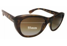 Sunglass Fix Sunglass Replacement Lenses for Ray Ban RB4227 - 55mm Wide