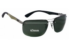 Sunglass Fix Sunglass Replacement Lenses for Ray Ban RB8310 Tech - 63mm Wide