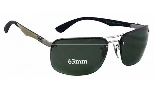 Sunglass Fix Sunglass Replacement Lenses for Ray Ban RB8310 - 63mm wide