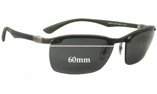 Sunglass Fix Sunglass Replacement Lenses for Ray Ban RB8312 Tech - 60mm Wide