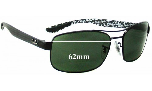 Sunglass Fix Sunglass Replacement Lenses for Ray Ban RB8316 - 62mm Wide