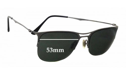Sunglass Fix Sunglass Replacement Lenses for Ray Ban LightRay RB8715 - 53mm wide
