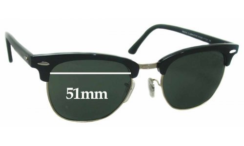 Sunglass Fix Sunglass Replacement Lenses for Ray Ban WO365 RB3016 Clubmaster - 51mm Wide