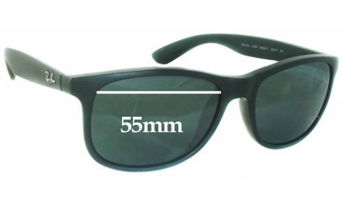 Sunglass Fix Sunglass Replacement Lenses for Ray Ban RB4202 Andy - 55mm Wide