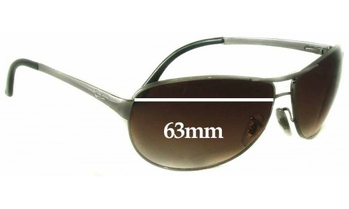 Sunglass Fix Sunglass Replacement Lenses for Ray Ban Warrior RB3342 - 63mm wide