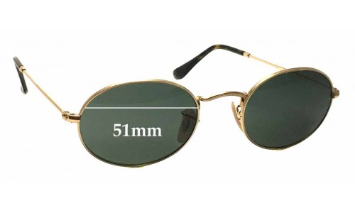 Sunglass Fix Sunglass Replacement Lenses for Ray Ban RB3547-N - 51mm wide