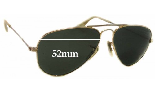 Sunglass Fix Sunglass Replacement Lenses for Ray Ban Unknown Model - 52mm Wide