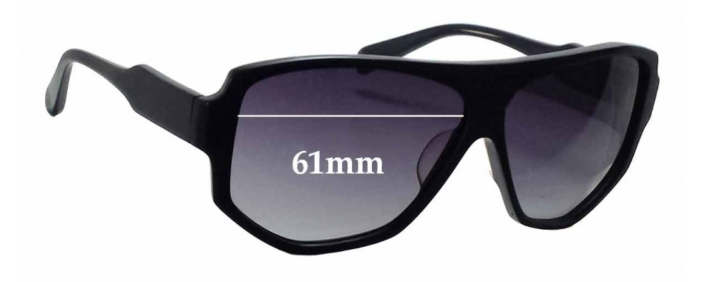 Sunglass Fix Sunglass Replacement Lenses for Reminence Apollo III - 61mm Wide