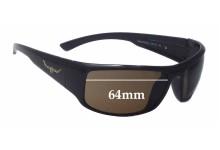 Sunglass Fix Sunglass Replacement Lenses for R.M. Williams Brooker - 64mm Wide