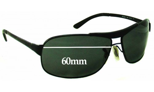 Sunglass Fix Sunglass Replacement Lenses for Ray Ban RB3323 - 60mm Wide