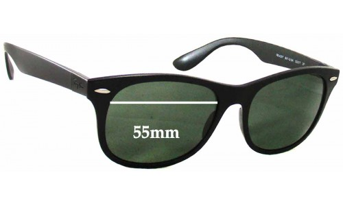 Sunglass Fix Sunglass Replacement Lenses for Ray Ban RB4207 - 55mm Wide