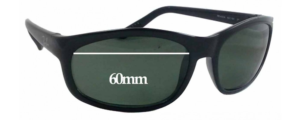 Sunglass Fix Sunglass Replacement Lenses for Ray Ban RB4004 - 60mm Wide