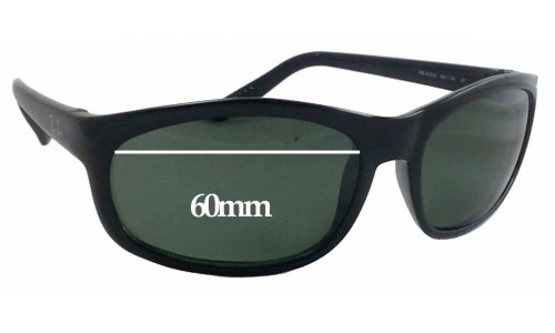 Sunglass Fix Sunglass Replacement Lenses for Ray Ban RB 4004 - 60mm Wide