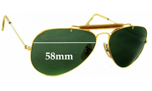 Sunglass Fix Sunglass Replacement Lenses for Ray Ban RB3029 Bausch & Lomb - 58mm wide