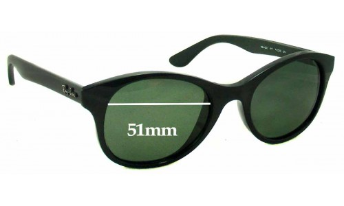 Sunglass Fix Sunglass Replacement Lenses for Ray Ban RB4203 - 51mm Wide