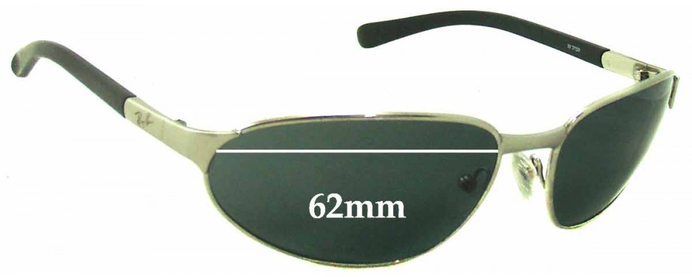 Sunglass Fix Sunglass Replacement Lenses for Ray Ban B&L W3159 - 62mm Wide