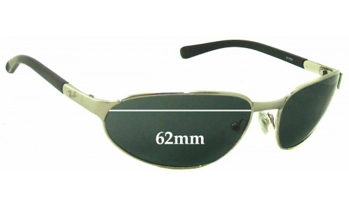 Sunglass Fix Sunglass Replacement Lenses for Ray Ban W3159 - 62mm Wide