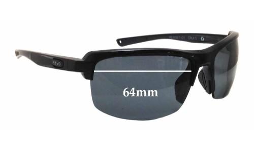 Sunglass Fix Sunglass Replacement Lenses for Revo 4067 Cruxs  - 64mm Wide