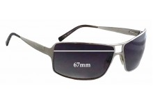 Sunglass Fix Sunglass Replacement Lenses for Salvatore Ferragamo 1098 - 67mm Wide